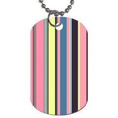 Seamless Colorful Stripes Pattern Background Wallpaper Dog Tag (two Sides) by Simbadda