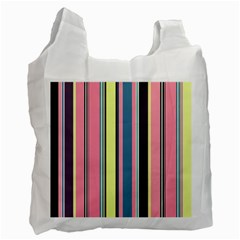 Seamless Colorful Stripes Pattern Background Wallpaper Recycle Bag (one Side) by Simbadda
