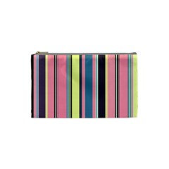 Seamless Colorful Stripes Pattern Background Wallpaper Cosmetic Bag (small)  by Simbadda