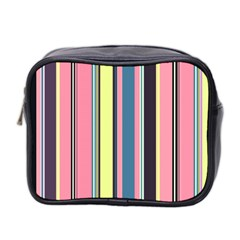 Seamless Colorful Stripes Pattern Background Wallpaper Mini Toiletries Bag 2 Side by Simbadda
