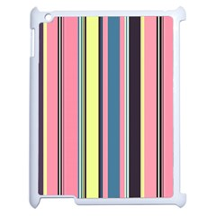 Seamless Colorful Stripes Pattern Background Wallpaper Apple Ipad 2 Case (white) by Simbadda