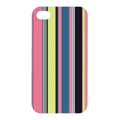 Seamless Colorful Stripes Pattern Background Wallpaper Apple Iphone 4/4s Premium Hardshell Case by Simbadda