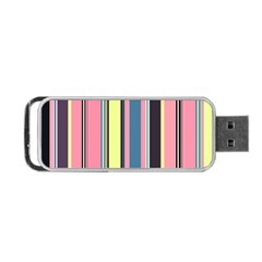 Seamless Colorful Stripes Pattern Background Wallpaper Portable Usb Flash (two Sides) by Simbadda