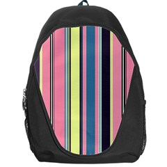 Seamless Colorful Stripes Pattern Background Wallpaper Backpack Bag by Simbadda
