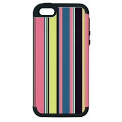 Seamless Colorful Stripes Pattern Background Wallpaper Apple Iphone 5 Hardshell Case (pc+silicone) by Simbadda