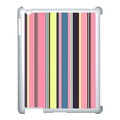 Seamless Colorful Stripes Pattern Background Wallpaper Apple Ipad 3/4 Case (white) by Simbadda