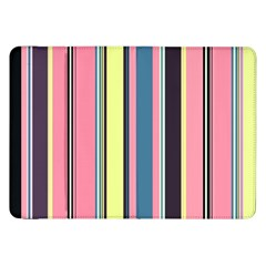 Seamless Colorful Stripes Pattern Background Wallpaper Samsung Galaxy Tab 8 9  P7300 Flip Case by Simbadda