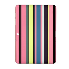 Seamless Colorful Stripes Pattern Background Wallpaper Samsung Galaxy Tab 2 (10 1 ) P5100 Hardshell Case  by Simbadda