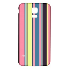 Seamless Colorful Stripes Pattern Background Wallpaper Samsung Galaxy S5 Back Case (white) by Simbadda