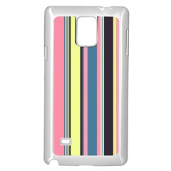 Seamless Colorful Stripes Pattern Background Wallpaper Samsung Galaxy Note 4 Case (white)