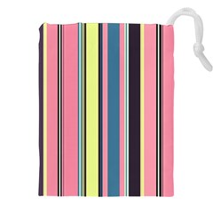 Seamless Colorful Stripes Pattern Background Wallpaper Drawstring Pouches (xxl) by Simbadda