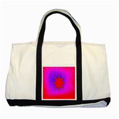 Pink Digital Computer Graphic Two Tone Tote Bag by Simbadda