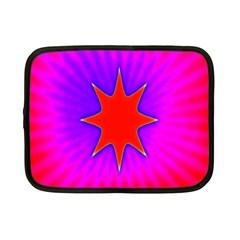 Pink Digital Computer Graphic Netbook Case (small)  by Simbadda