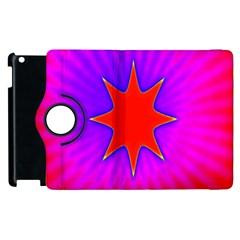 Pink Digital Computer Graphic Apple Ipad 2 Flip 360 Case by Simbadda