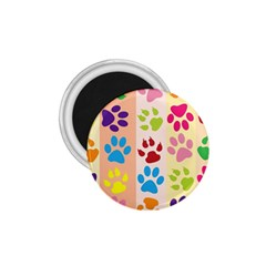 Colorful Animal Paw Prints Background 1 75  Magnets by Simbadda