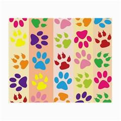 Colorful Animal Paw Prints Background Small Glasses Cloth by Simbadda