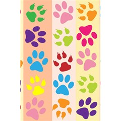 Colorful Animal Paw Prints Background 5 5  X 8 5  Notebooks by Simbadda