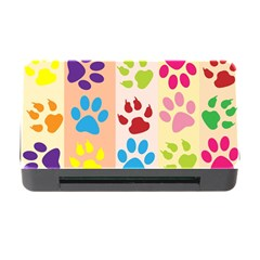 Colorful Animal Paw Prints Background Memory Card Reader With Cf by Simbadda