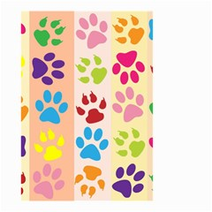 Colorful Animal Paw Prints Background Small Garden Flag (two Sides) by Simbadda