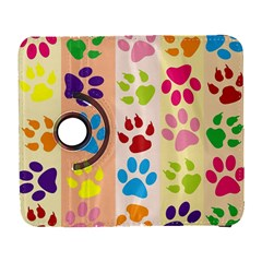 Colorful Animal Paw Prints Background Galaxy S3 (flip/folio) by Simbadda