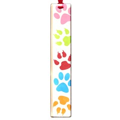 Colorful Animal Paw Prints Background Large Book Marks by Simbadda