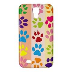 Colorful Animal Paw Prints Background Samsung Galaxy Mega 6 3  I9200 Hardshell Case by Simbadda