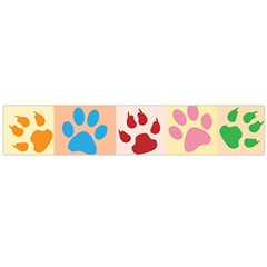 Colorful Animal Paw Prints Background Flano Scarf (large)
