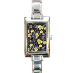Wildflowers Ii Rectangle Italian Charm Watch