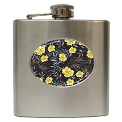 Wildflowers Ii Hip Flask (6 Oz)