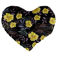Wildflowers Ii Large 19  Premium Flano Heart Shape Cushions by tarastyle