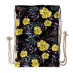 Wildflowers Ii Drawstring Bag (large)