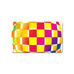 Squares Colored Background Magnet (name Card) by Simbadda