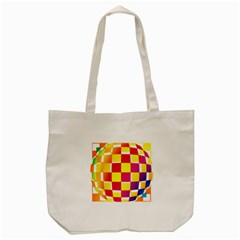 Squares Colored Background Tote Bag (cream) by Simbadda