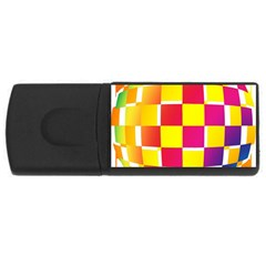 Squares Colored Background Usb Flash Drive Rectangular (4 Gb) by Simbadda