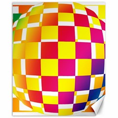 Squares Colored Background Canvas 16  X 20   by Simbadda