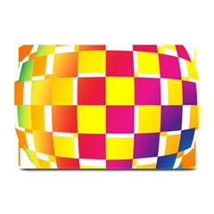 Squares Colored Background Plate Mats by Simbadda