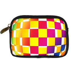 Squares Colored Background Digital Camera Cases by Simbadda