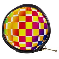 Squares Colored Background Mini Makeup Bags by Simbadda
