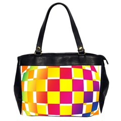 Squares Colored Background Office Handbags (2 Sides)  by Simbadda