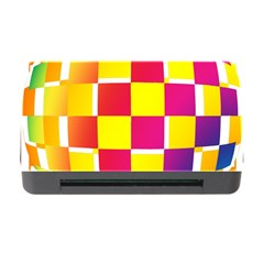 Squares Colored Background Memory Card Reader With Cf by Simbadda