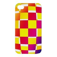 Squares Colored Background Apple Iphone 4/4s Premium Hardshell Case by Simbadda