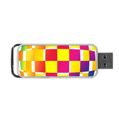 Squares Colored Background Portable Usb Flash (two Sides) by Simbadda