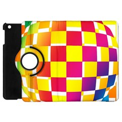 Squares Colored Background Apple Ipad Mini Flip 360 Case by Simbadda
