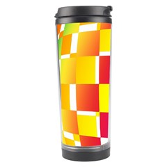 Squares Colored Background Travel Tumbler by Simbadda