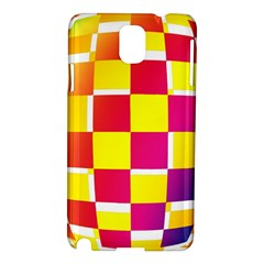 Squares Colored Background Samsung Galaxy Note 3 N9005 Hardshell Case by Simbadda