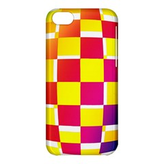 Squares Colored Background Apple Iphone 5c Hardshell Case by Simbadda