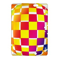Squares Colored Background Kindle Fire Hdx 8 9  Hardshell Case by Simbadda
