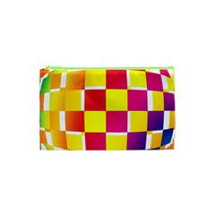 Squares Colored Background Cosmetic Bag (xs) by Simbadda