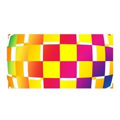 Squares Colored Background Satin Wrap by Simbadda