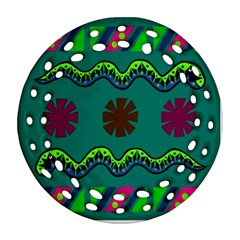A Colorful Modern Illustration Ornament (round Filigree) by Simbadda